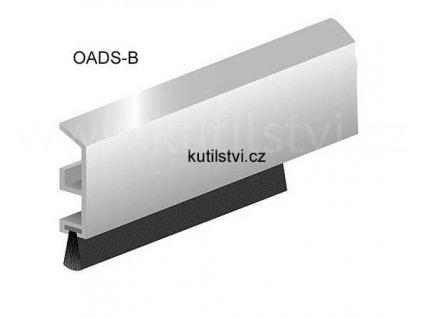 Hliníkový kartáč těsnící, robustní profil, na posuvné dveře, délka 100 a 300 cm