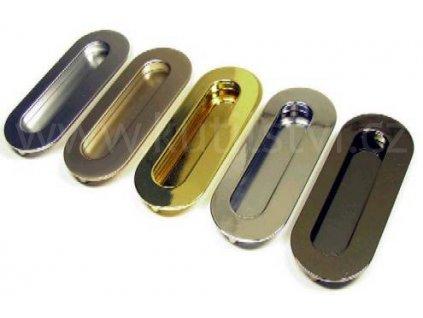 Nelina zápustná kovová úchytka (Varianta zápustná úchytka Nelina bronz)
