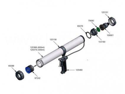 Membrána, pistole WILTON 600/400