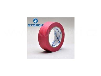 Maskovací páska na vlhké podklady, červená, 38mm x 50m