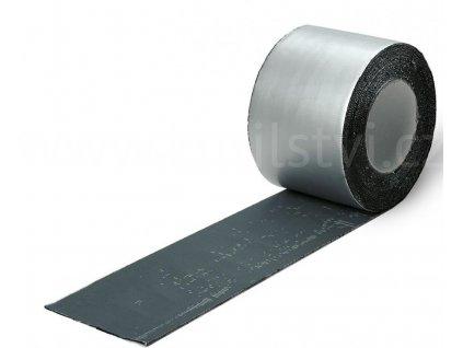Hliníková páska samolepící s bitumenem - ME104 oplechování, střechy, okapy (Varianta 100mm x 1,2mm x 10m)