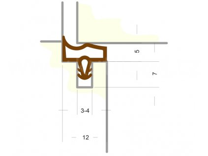 Silikonové těsnění pro obložkové zárubně - SE 3967