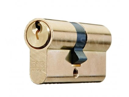 Oboustranná cylindrická vložka FAB 50D, mosaz