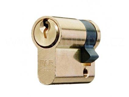 Jednostranná cylindrická vložka FAB 51D, mosaz