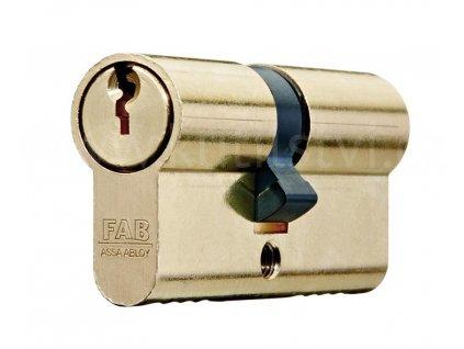 Oboustranná cylindrická vložka FAB 100 RSD, mosaz