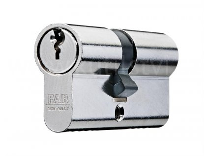 Oboustranná cylindrická vložka FAB 100 RSD, lesklý nikl