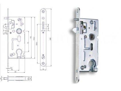 Zadlabací zámek vložkový pro posuvné dveře Hobes K 106A pravolevý