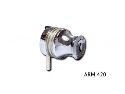 Zámek na sklo ARM 420, nikl