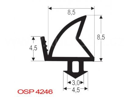 Těsnění plastových oken ALUPLAST, FINSTRAL, KÖMMERLING, PLUS-TEC, THYSSEN, OSP4246