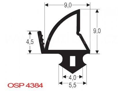Těsnění plastových oken DECEUNINCK, KBE, LB, SALAMANDER, VEKA, OSP4384