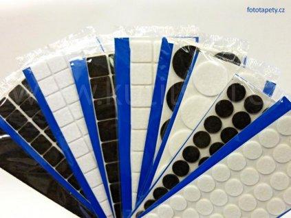 Filcové kluzné podložky pod nábytek samolepící - hranaté (Varianta rozměr 100 x 200 mm - bílá, 1 ks v balení)