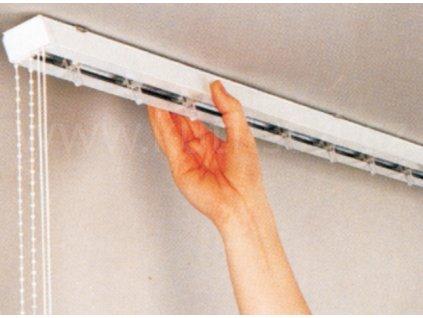 Kompletní horní vodící profil pro vertikální žaluzie - lamela 127 mm