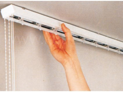 Kompletní horní vodící profil pro vertikální žaluzie - lamela 89 mm