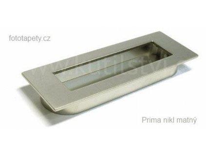 kovová úchytka Prima zápustná (Varianta zápustná úchytka Prima chrom lesklý)