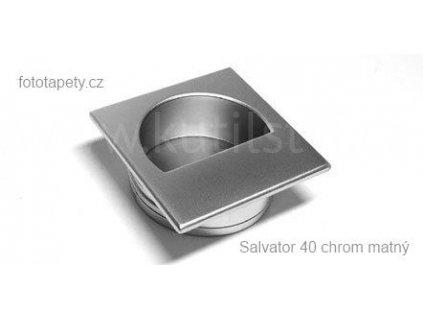 kovová úchytka SALVATOR zápustná (Varianta SALVATOR chrom matný)