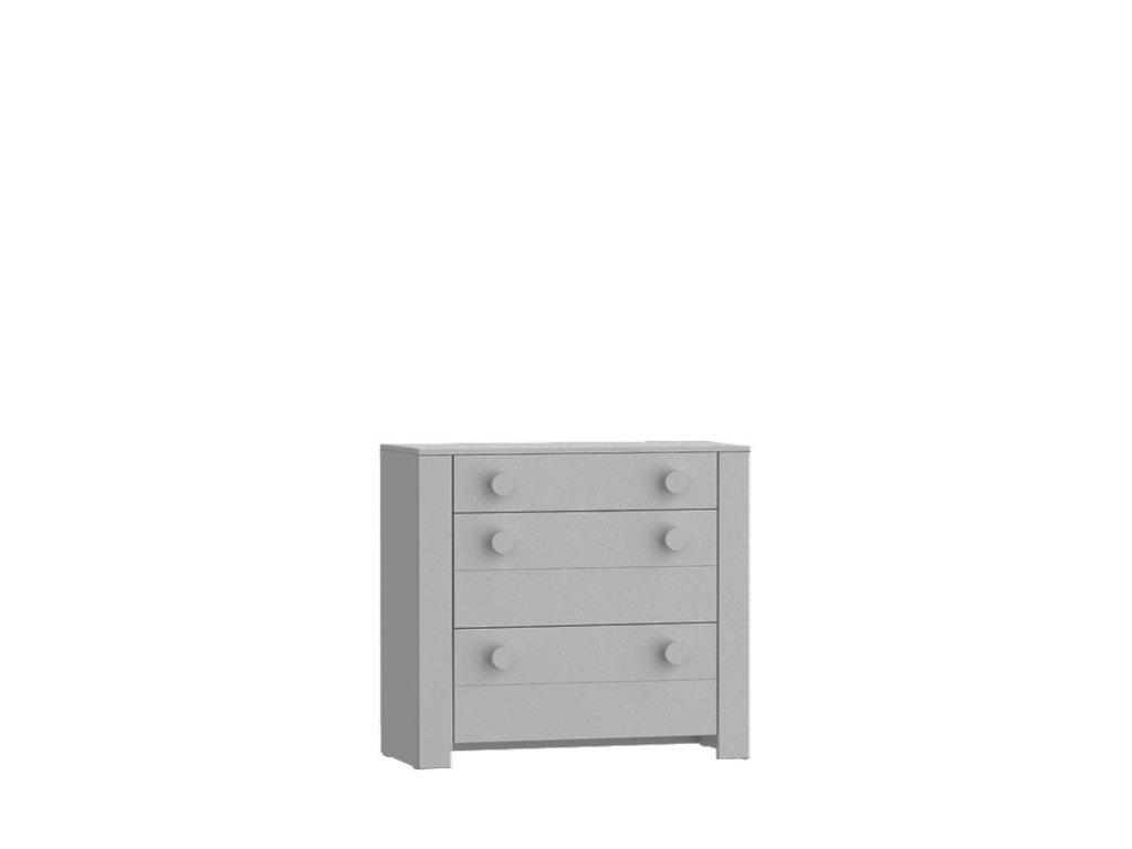 Lofi Grey Komoda s 3 šuflíkami