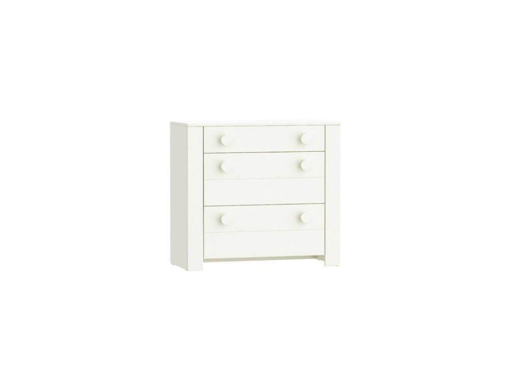 Lofi White komoda s 3 šuflíkami