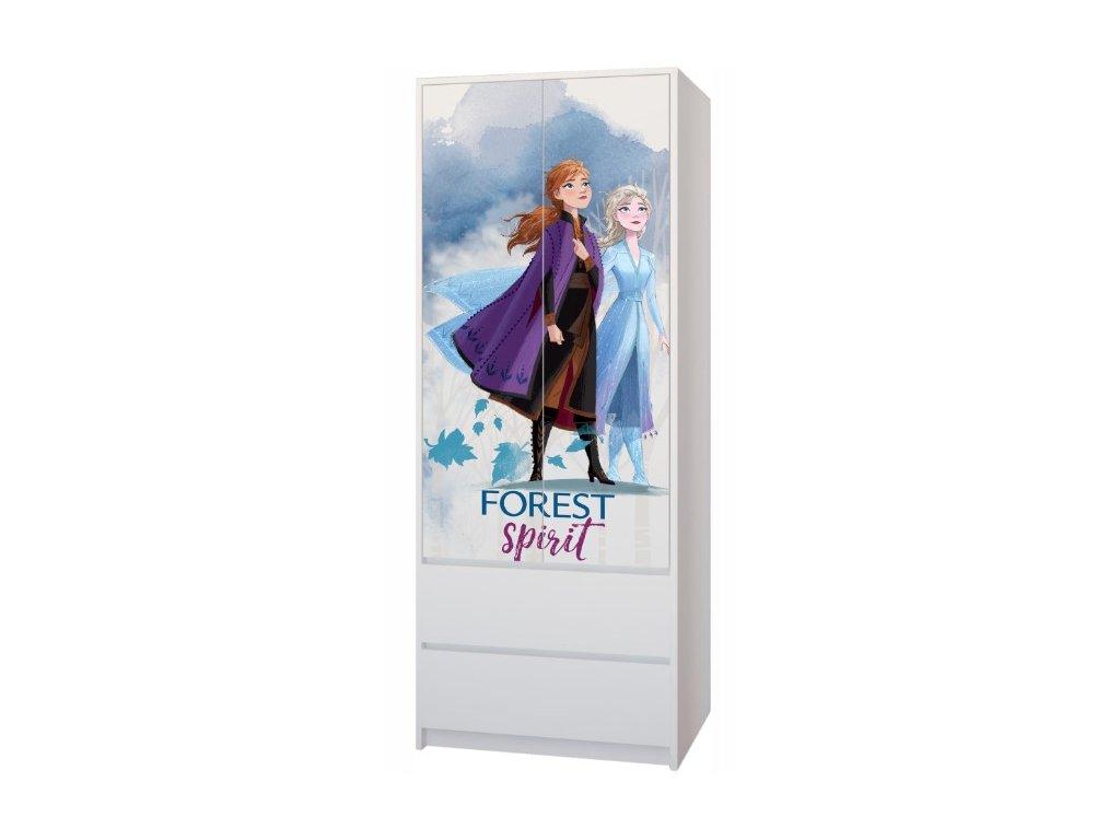 Skriňa Frozen II, 2D, 2 zásuvky
