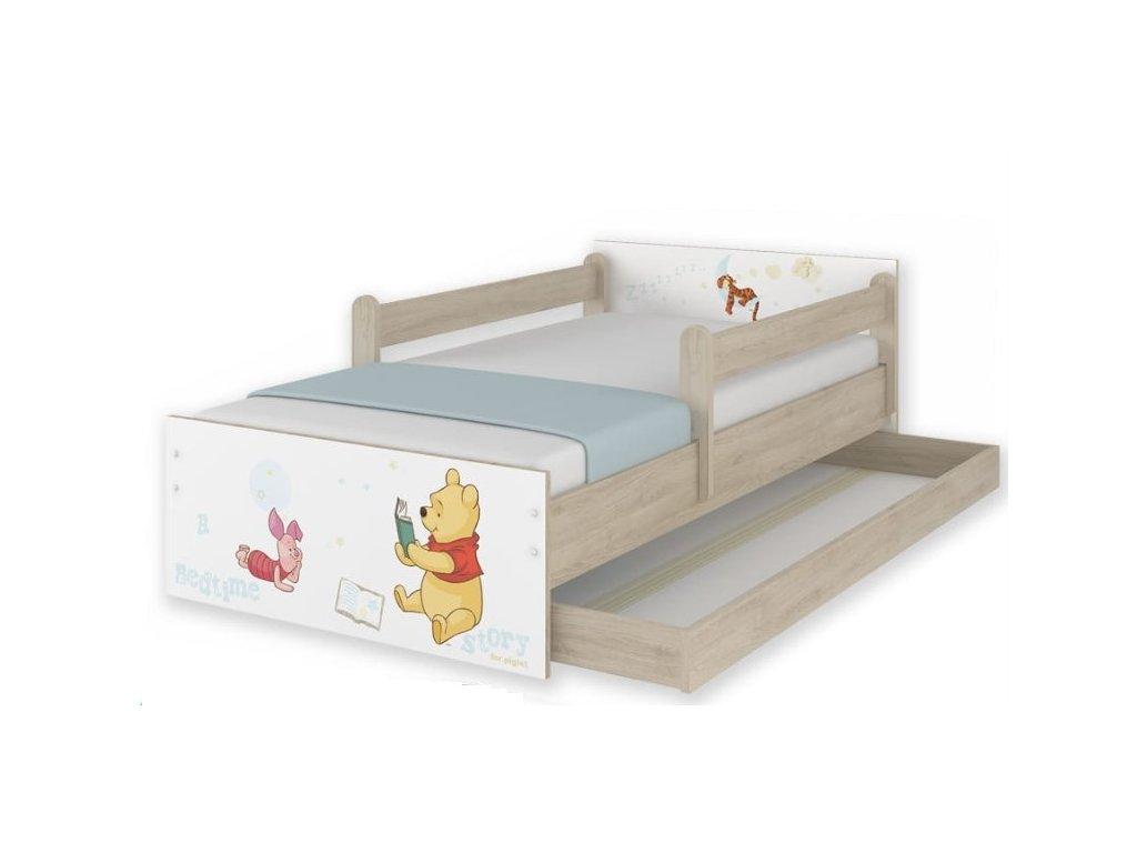 Detská posteľ Macko Poo- dub