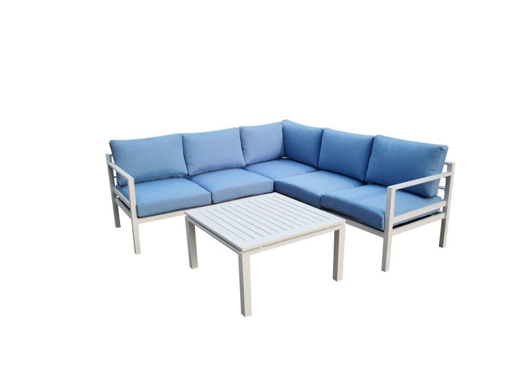 Alluminio záhradná súprava modrá