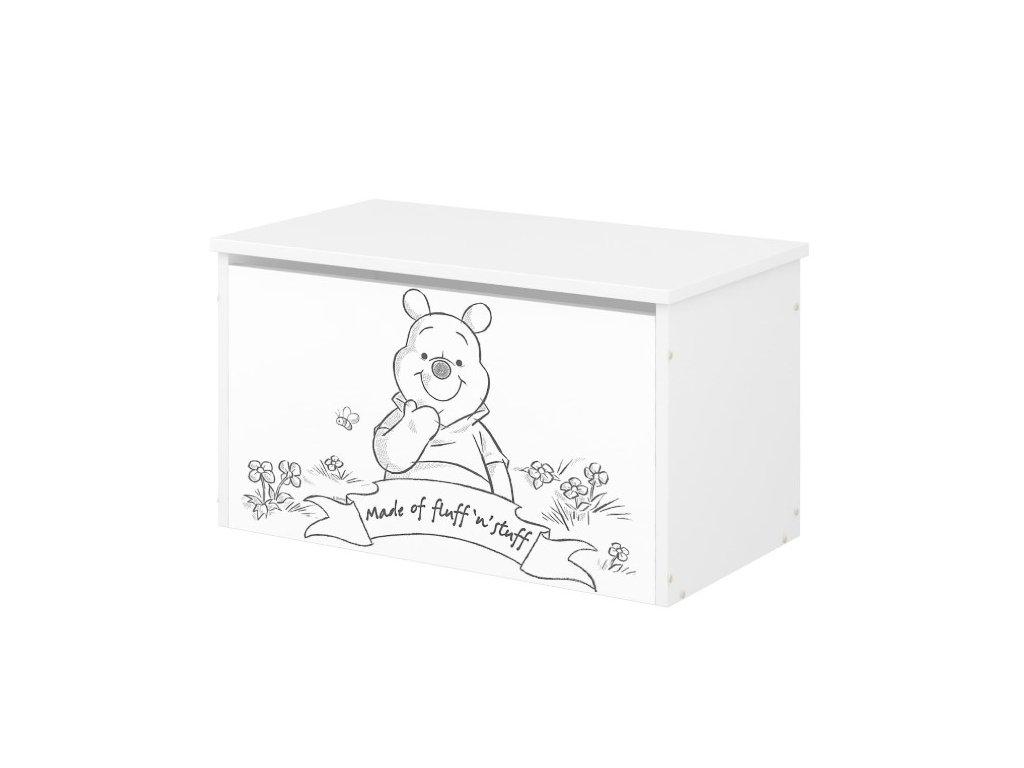 Box na hračky Macko Poo čiernobiely