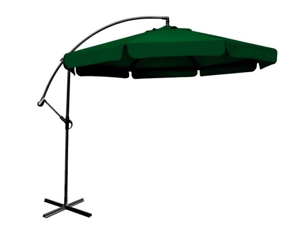 Veľký záhradný dáždnik 350 cm zelený