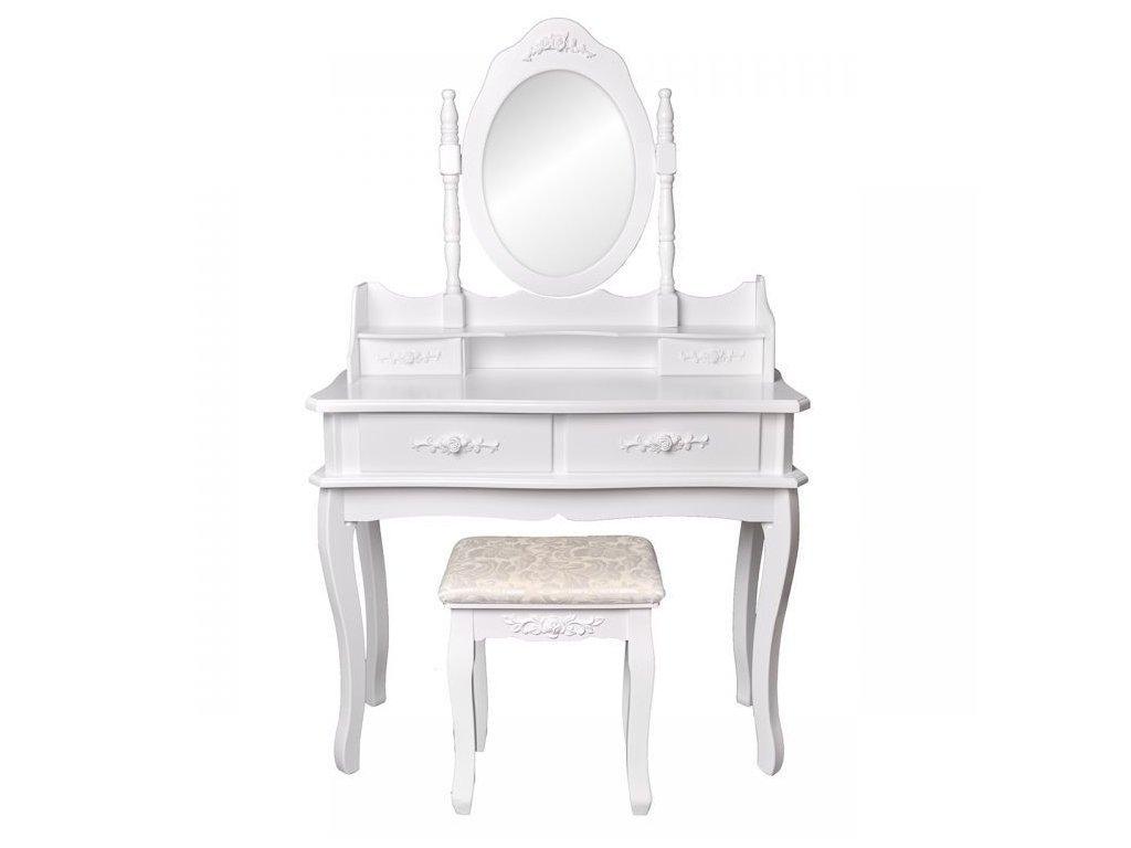 Toaletný stolík VICTORI 90 cm biely