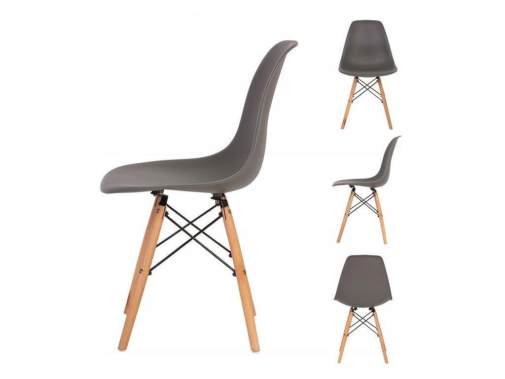 Set stoličiek 4 ks ITALIANO tmavo šedá