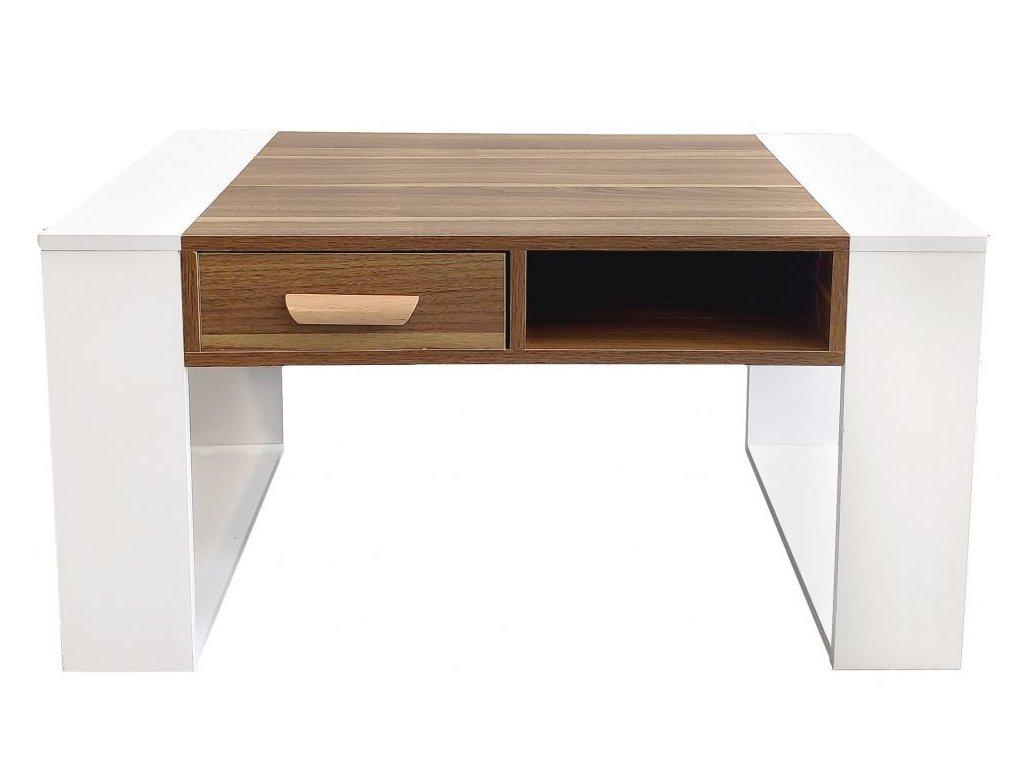 Konferenčný stolík Kape GoodHome biely / hnedý