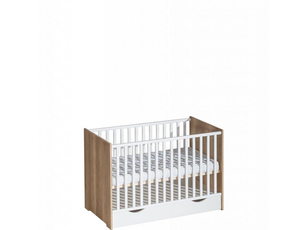 Detská postieľka s šuflikom 120x60 Terra 2