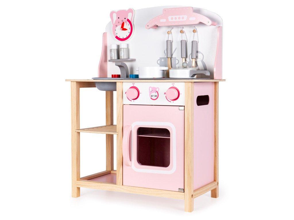Drevená detská kuchyňa so zvukmi od spoločnosti Ecotoys