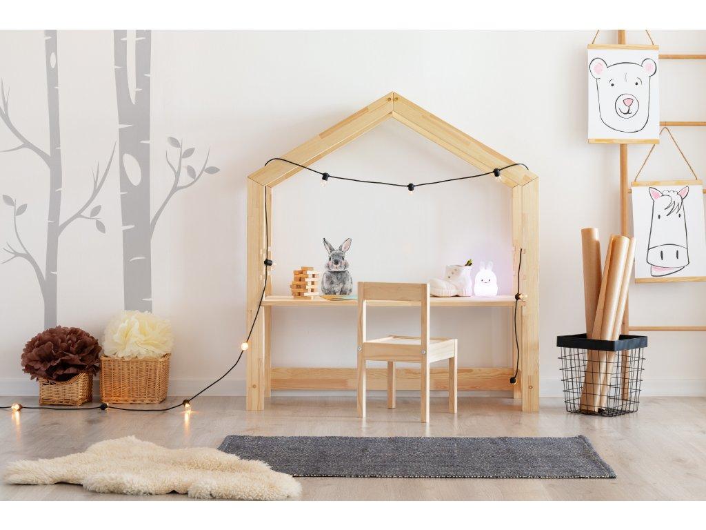 Detský drevený stolík v tvare domčeku BR 40x100cm