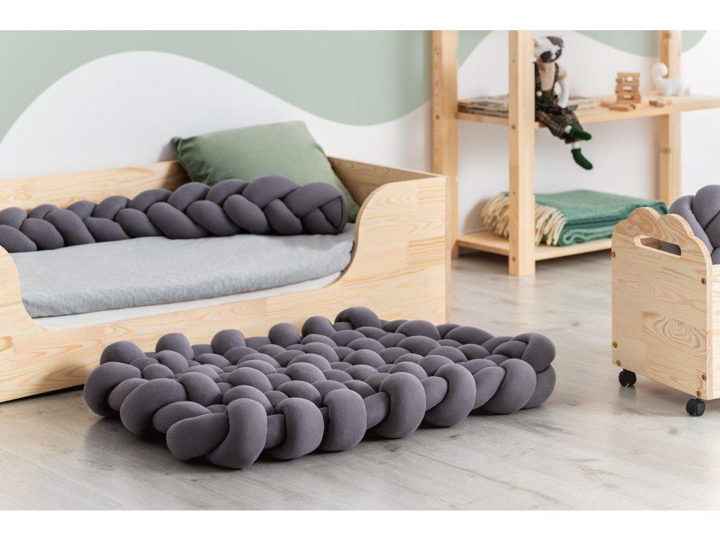 """Handmade bavlnený koberec """"vrkoč"""" 100 cm x 130 cm"""