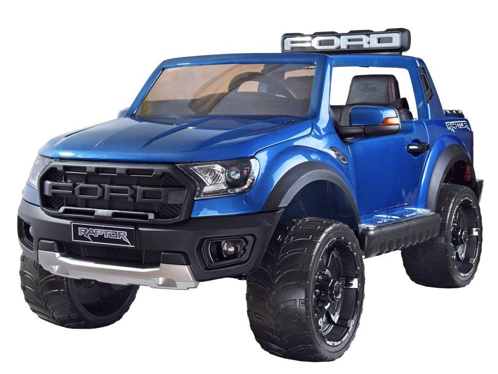 Elektrické autíčko FORD RANGER 4x4 lakovaný modrý dvojmiestny
