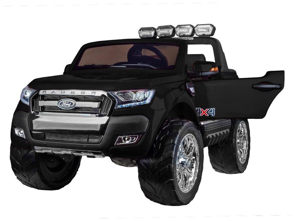 Elektrické autíčko FORD RANGER 4x4 lakovaný čierny dvojmiestny