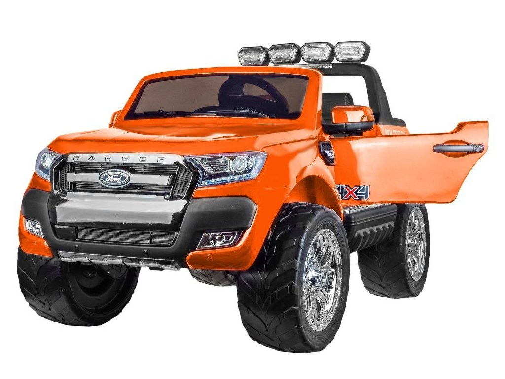 Elektrické autíčko FORD RANGER 4x4 oranžový dvojmiestny
