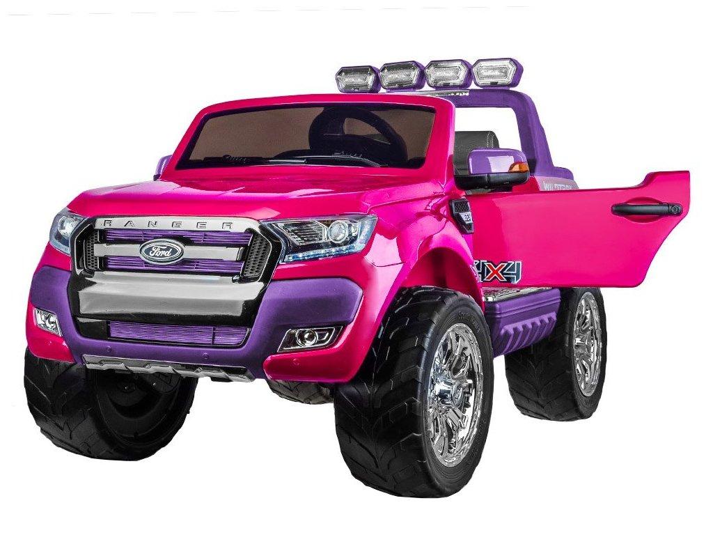 Elektrické autíčko FORD RANGER 4x4 ružový dvojmiestny