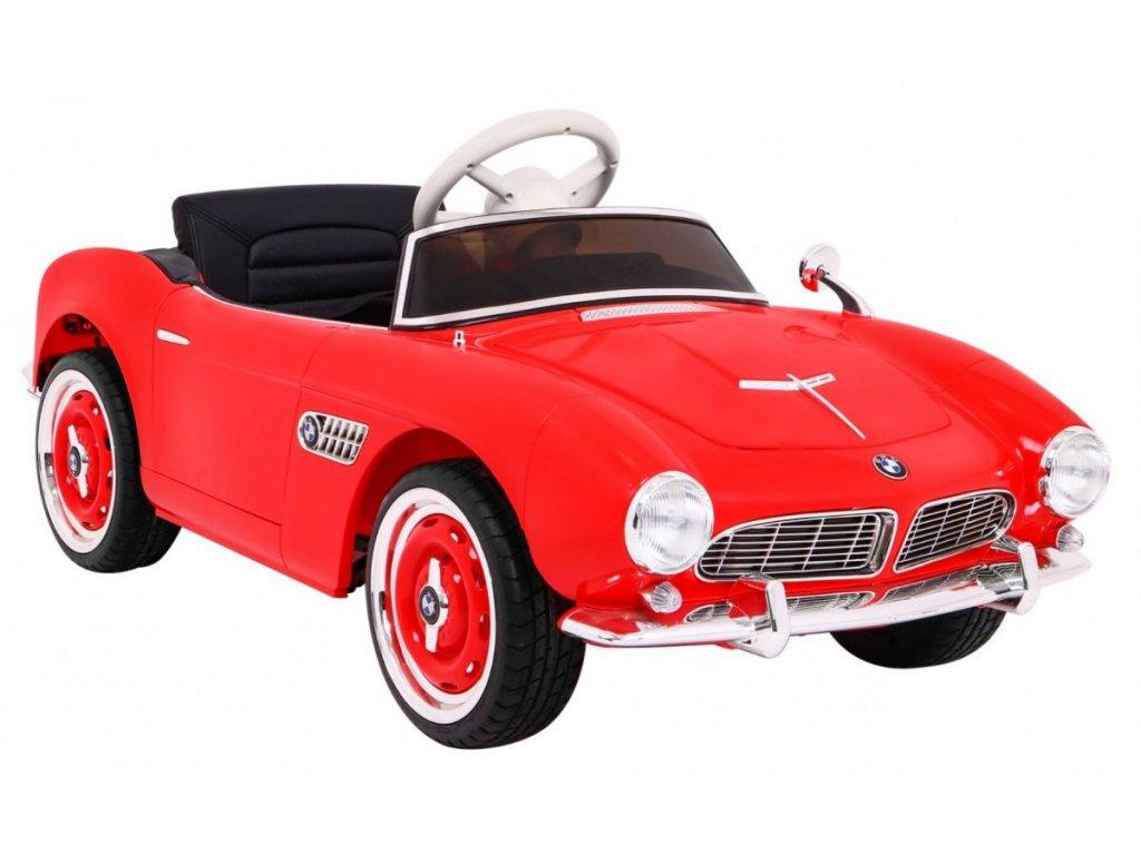 Elektrické retro autíčko BMW 507 Červené