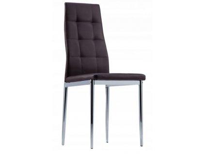 Jedálenská stolička GoodHome Prestige 4 kusy - hnedá