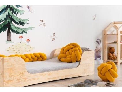 """Handmade bavlnený vankúš """"vrkoč"""" horčicová 3v1"""