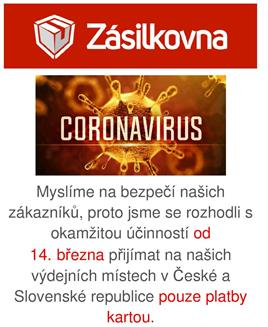 Coronavirus - Zasilkovna