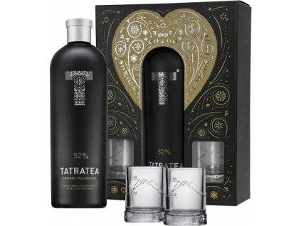 TATRATEA 52% 0,7l dárková kazeta + 2ks shot plech