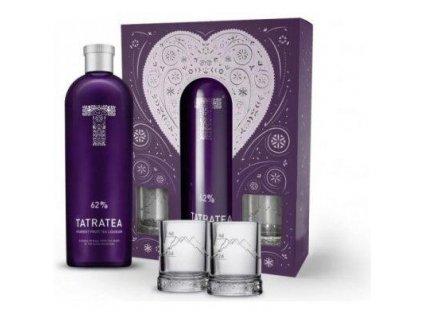 TATRATEA 62% 0,7l  dárková kazeta + 2ks shot plech