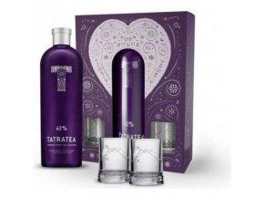 TATRATEA 62% obj. 0,7l  dárková kazeta + 2ks shot plech