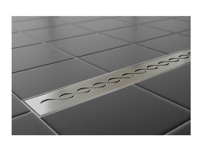 Sprchový podlahový žľab 110 cm - vlnky