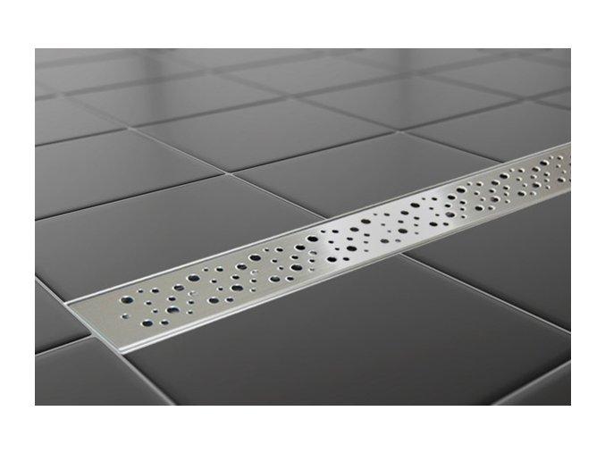Sprchový podlahový žľab 80 cm - dierky