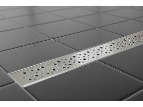 Sprchový podlahový žľab 110 cm - dierky