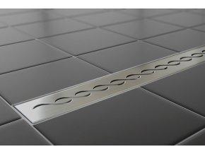 Sprchový podlahový žľab 80 cm - vlnky