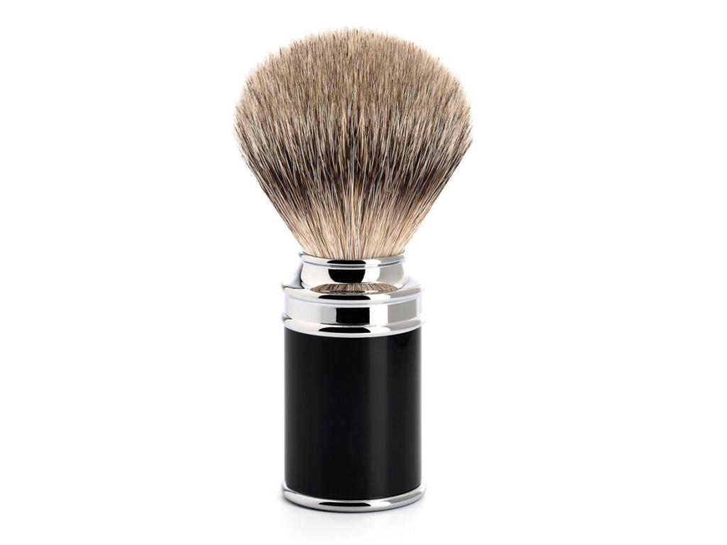 Štětka na holení Mühle TRADITIONAL, černá, Silvertip badger