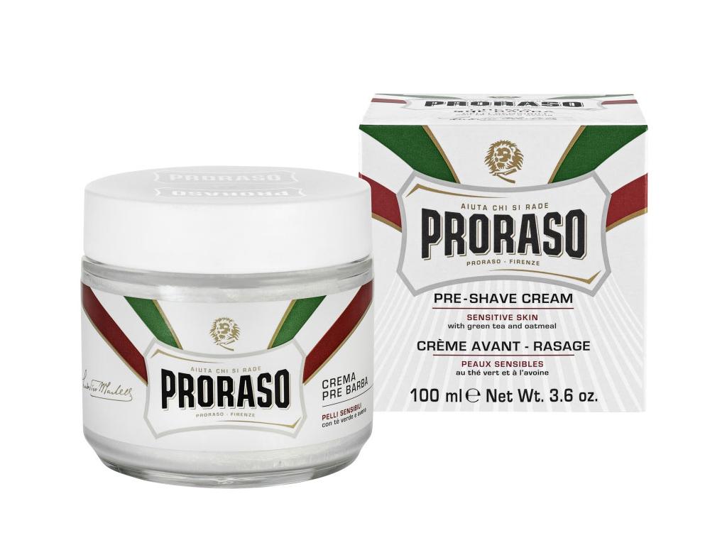 Krém před i po holení na citlivou pokožku Proraso, zelený čaj